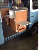 Early Bay Westy sink unit Side Table Support/arm/leg