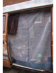 VW T25 Sliding Door Net with Middle Zip in Grey