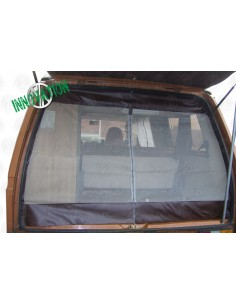 VW T25 Tailgate Net with Middle Zip in Brown