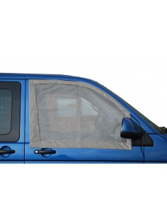 Pair of Cab Window Nets for VW T5 / T6 in grey leatherette