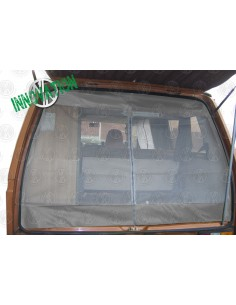 VW T25 Tailgate Net with Middle Zip in Grey
