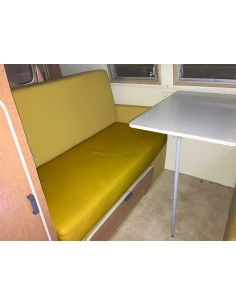 SO42 Mustard Vinyl Rock and Roll Seat Cover for Bulkhead Model