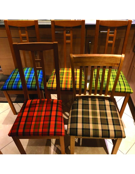 Westfalia Fabric Dining Chair Cover in Orange