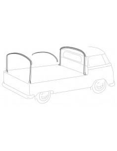 Flush Cabin Height Steel Hoop Frame Set for VW T2 Bay Single Cab and Double Cab Pick Ups