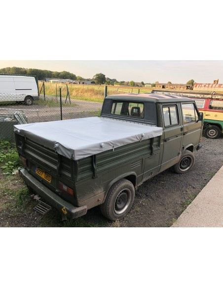 VW T25 DOKA PVC Cover with front metal bow for original steel frame