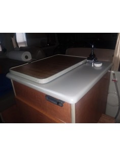 White Plastic Sink for 1968 Westfalia Camper as original