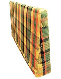 Westfalia Helsinki wedge foam cover in Yellow plaid for the side seat