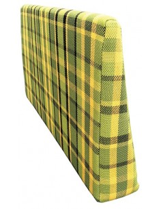 Westfalia Helsinki wedge foam cover in Green plaid for the side seat