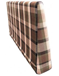 Westfalia Helsinki wedge foam cover in Beige plaid for the side seat