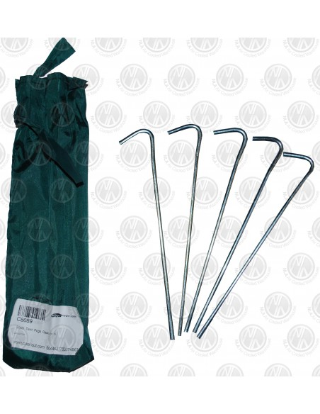 Steel Tent Pegs with Bag