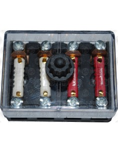 4 Way Auxiliary Fuse Box with fuses