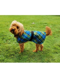 NLA Westfalia bule plain material dog coat double sided with waterproof layer inside medium