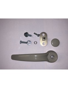 VW Westfalia T2 sliding door 2nd rear inner door handle set with bracket 68-79