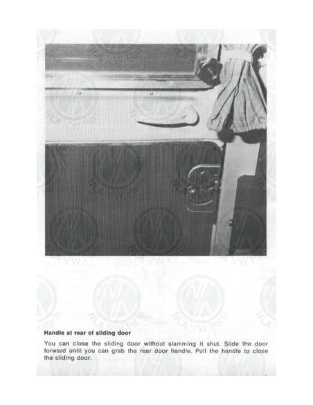 VW Westfalia T2 sliding door 2nd rear inner door handle set with bracket 68-79