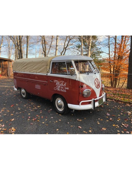 Tan Pick Up Canvas Flush to Cabin Height for Split Single Cab