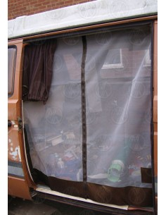 VW T25 Sliding Door Net with Middle Zip in Brown
