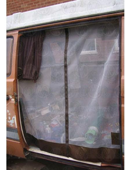 VW T25 Sliding Door Net with Middle Zip in Brown