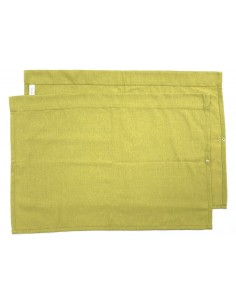 Westfalia Side Window Curtain for VW T2 late Bay in barley yellow