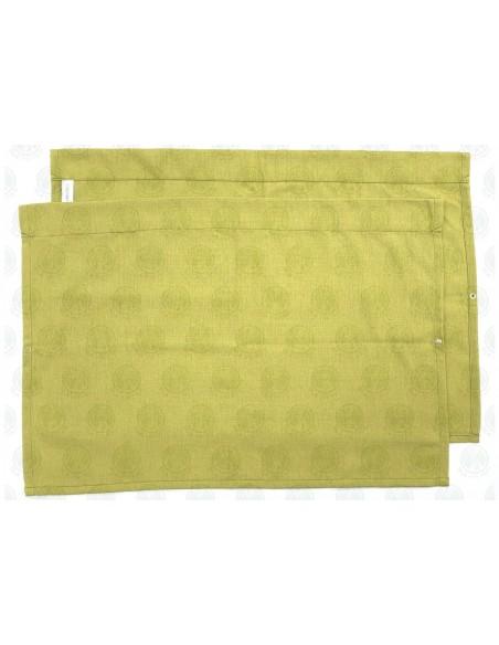 Westfalia Side Window Curtain for VW T2 late Bay in barley yellow