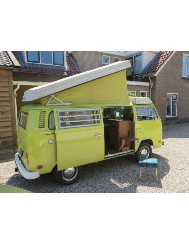 VW T2 Late Bay Roof Canvas with 3 windows in Bali Yellow