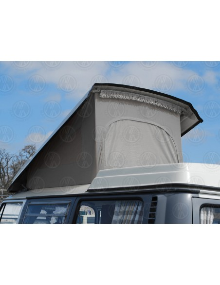 VW T2 Early Bay Roof Canvas, 3 Windows in Grey