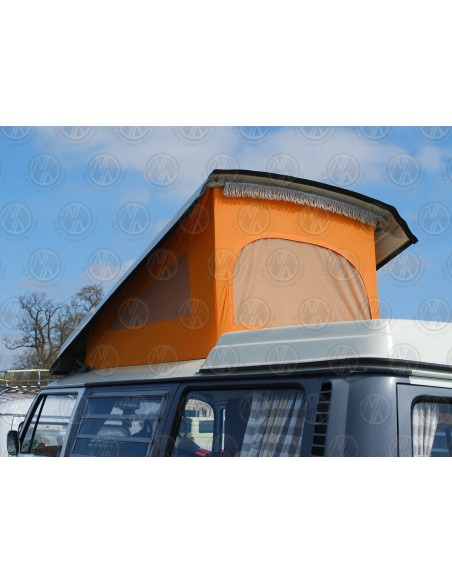 VW T2 Early Bay Roof Canvas, 3 Windows, Orange