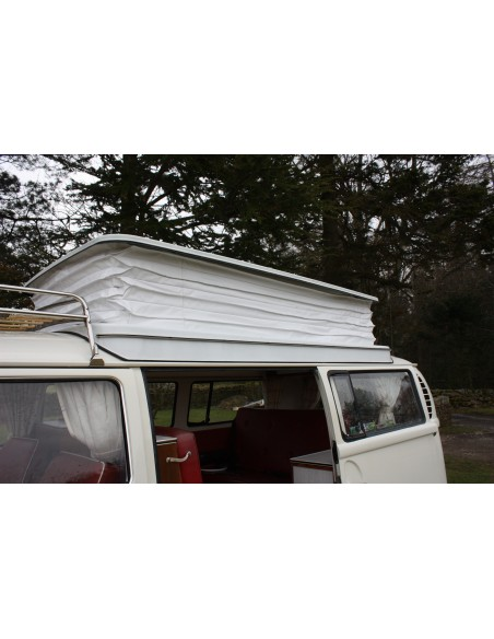 Devon Pop Top Roof Bellow white PVC with Concertina sides for VW Bay 68-75