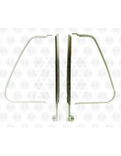 VW T2 Fixed Quarter Light chrome Upright Bars & Aluminium D frame - Pair