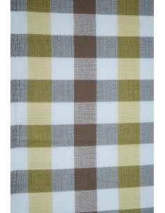 Westfalia curtain cloth white yellow brown check for splits and early bay per meter