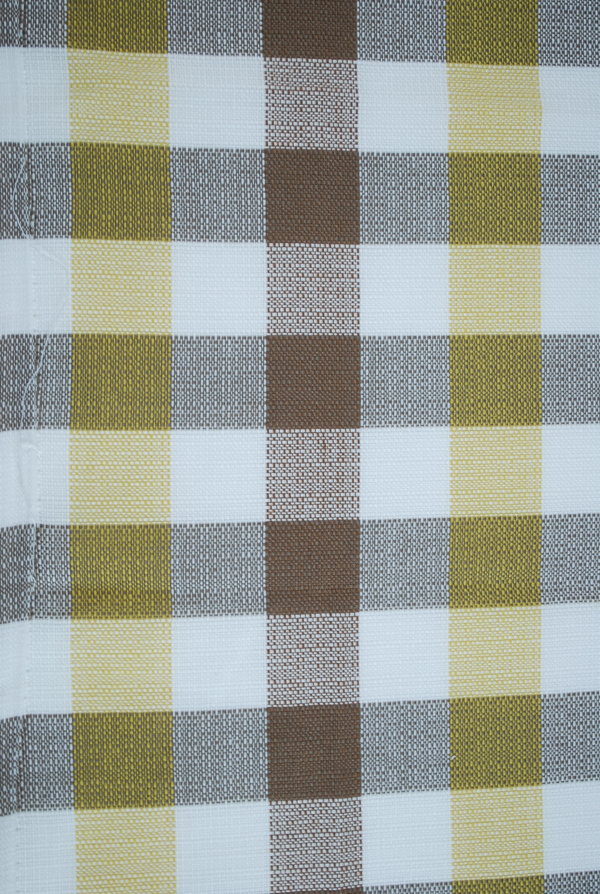 Yellow And Brown Check Curtains Curtain Menzilperde Net