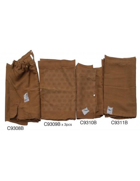 Westfalia Late Bay brown curtain set 10pcs