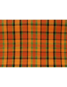 Westfalia orange plaid seat cloth as original per metre