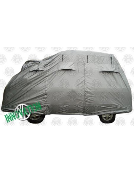 Deluxe air-vented silver van cover for high tops