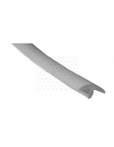 Rubber Edge Trim, Thin T Profile in Grey (per metre)