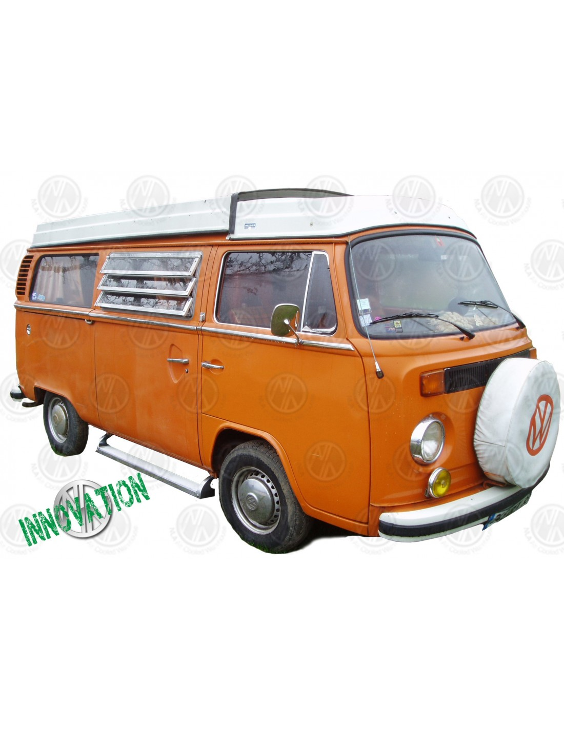 Volkswagen Bus Parts: Deluxe Polished Aluminium Side Step For VW T2 Bay