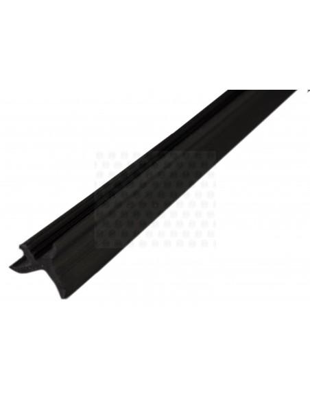 Rubber cupboard door trim, K profile in black (per metre)