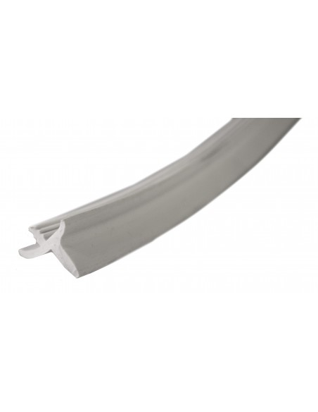 Rubber cupboard door trim, K Profile in grey (per metre)