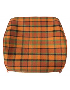 Westfalia Late Bay front seat Open Back Cover in Orange plaid 1975-1979
