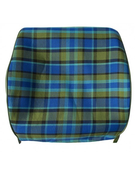 Westfalia Late Bay Open Back Seat Cover in Blue Plaid 1975-1979