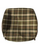 Westfalia Late Bay Open Back Seat Cover in Beige Plaid 1975-1979