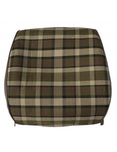 Westfalia Late Bay Full Back Seat Cover in Beige Plaid 1975-1979