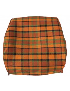 Westfalia Late Bay Full Back Seat Cover in Orange Plaid 1975-1979
