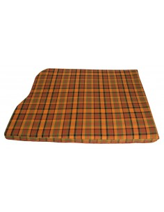 Westfalia Orange Plaid Engine Foam Cover 3/4 Width 1974-1979
