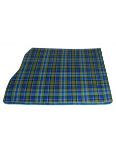 Westfalia Blue Plaid Engine Foam Cover 3/4 Width 1974-1979