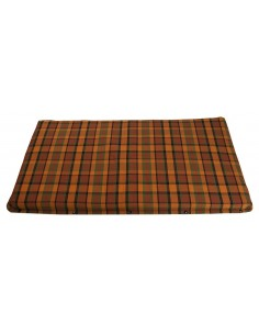 Westfalia Orange Plaid Upper Bed Foam Cover Small 1974-1979