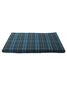 Westfalia Blue Plaid Upper Bed Foam Cover Small 1974-1979