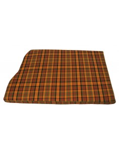 Westfalia Orange Plaid Engine Foam Cover Full Width with Spare Wheel