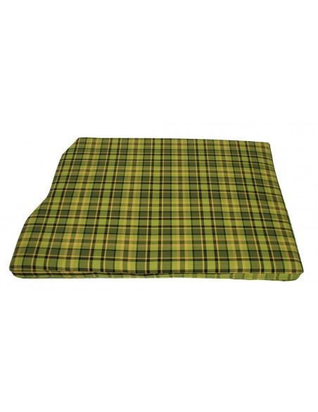 Westfalia Green Plaid Engine Foam Cover Full Width with Spare Wheel 1974-1979