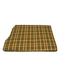Westfalia Yellow Plaid Engine Foam Cover Full Width with Spare Wheel 1974-1979