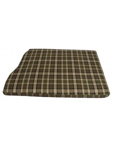 Westfalia Beige Plaid Engine Foam Cover Full Width with Spare Wheel 1974-1979